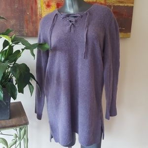 ELLOS sweater dress purple wool mohair 14 / 16